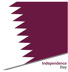 Qatar independence day vector