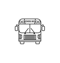 School bus line icon student transport vector