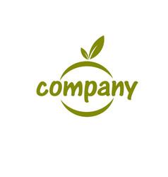 simple fruit logo vector image