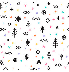 abstract tribal background hand drawn seamless vector image
