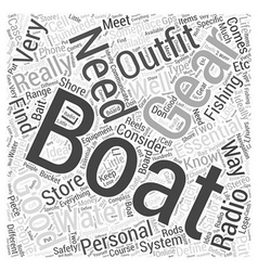 Boating gear word cloud concept vector