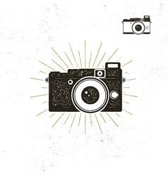 camera icon silhouette vector image