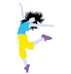 Color of Modern Dance Activity Silhouette vector image vector image