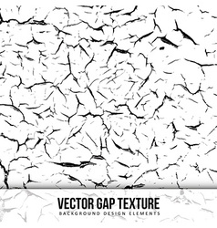 Gap texture Old color background Chipped wall vector image