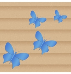 Handmade paper colored butterfly vector