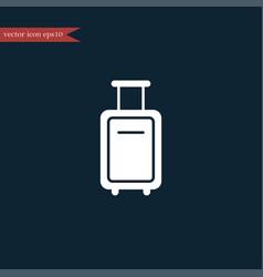 luggage icon simple vector image