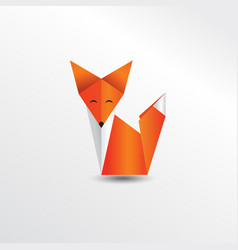 origami fox vector image