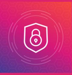 shield icon security symbol vector image