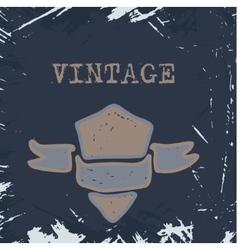 vintage banner vector image