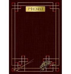 Asian menu with ornament and dragon vector image vector image