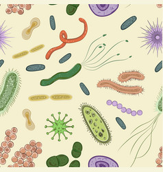 bacteria virus germs icon pattern vector image
