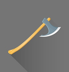 flat style medieval battle ax icon vector image vector image