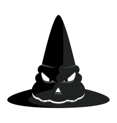 halloween witch hat vector image vector image