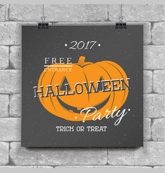 happy halloween invitation to a party of vector image vector image