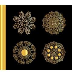 Orange gold pattern isolated on background vector image