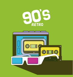 90s retro cartoons vector