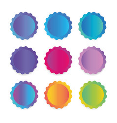 A collection of round stickers labels for banners vector