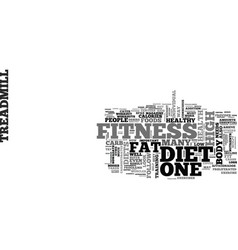 a look on diet fitness text word cloud concept vector image