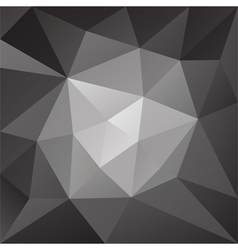 abstract black and white low poly background vector image