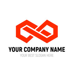 Abstract infinite block logo design template vector