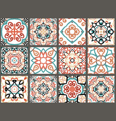 arabic decorative tiles vector image