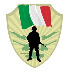 Army of Italy vector image