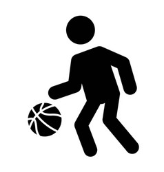 Basketball dribble icon vector