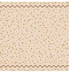 Beige ceramic tile mosaic in swimming pool vector
