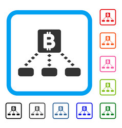bitcoin cashout scheme framed icon vector image