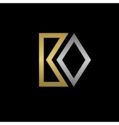 BO letters logo vector
