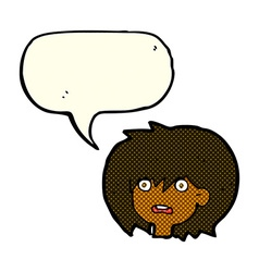 Cartoon shocked expression with speech bubble vector