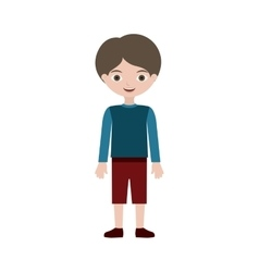 Child standing with t-shirt pants and shoes vector