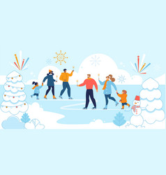 christmas eve family tradition flat concept vector image