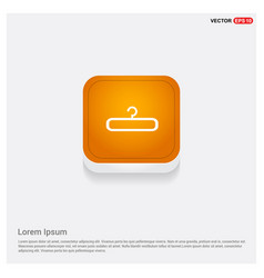 Clothing hanger icon orange abstract web button vector