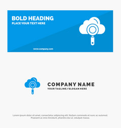 cloud computing search find solid icon website vector image