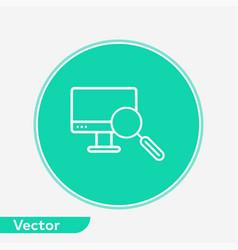 computer monitoring icon sign symbol vector image