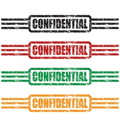 confidential stamp set vector image