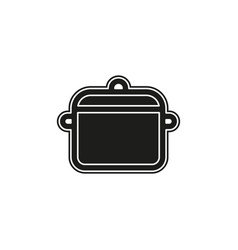 cooking pot - kitchen utensil symbol food icon vector image