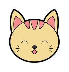 Cute cat face cartoon vector