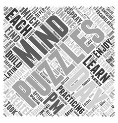 Discoveries in Mind Puzzles Word Cloud Concept vector