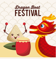 Dragon boat festival japanese celebration event vector