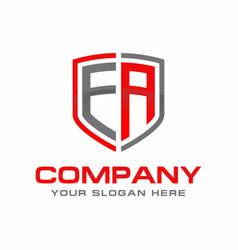 ea initial logo design vector image