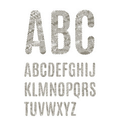 english alphabet with dotted texture vector image