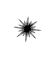 Explosion icon black on white vector