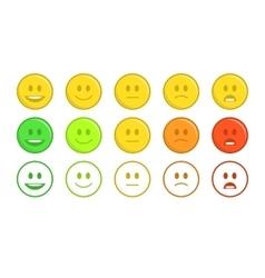 Feedback emoticon concept vector