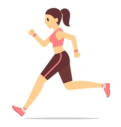Female runner vector image