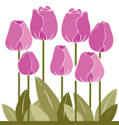 flowers-colored vector image