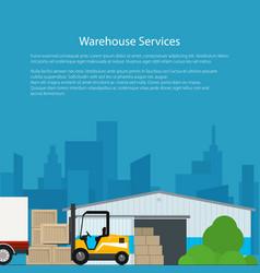 Flyer warehouse services vector
