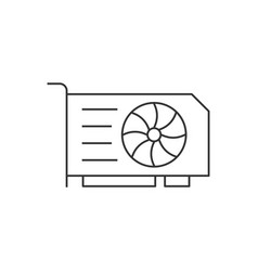graphics video card linear icon on white vector image