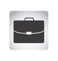 gray emblem suitcase icon vector image